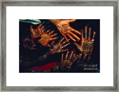 Henna Tattoos For Wedding Ceremony Framed Print by Kazuyoshi Nomachi