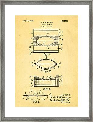 Hennegan Novelty Headwear Patent Art 1923 Framed Print by Ian Monk