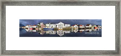 Henningsvaer Panoramic View Framed Print by Heiko Koehrer-Wagner
