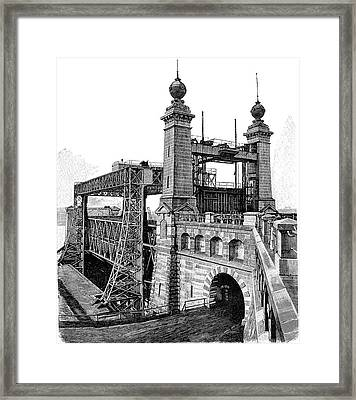 Henrichenburg Boat Lift Framed Print by Bildagentur-online/tschanz