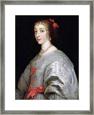 Henrietta-maria Of France 1609-69 Oil On Canvas Framed Print by Sir Anthony van Dyck