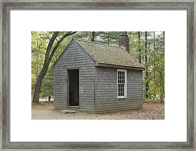 Henry David Thoreaus Cabin Framed Print by Science Stock Photography