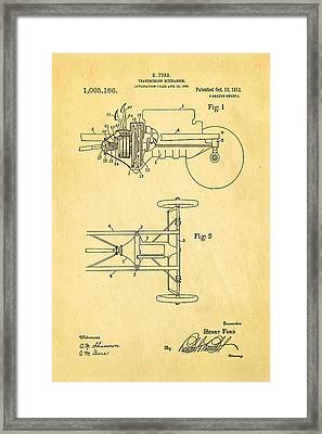 Henry Ford Transmission Mechanism Patent Art 1911 Framed Print by Ian Monk