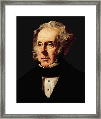 Henry John Temple, 3rd Viscount Palmerston, C.1855 Oil On Canvas Framed Print by Francis Cruikshank