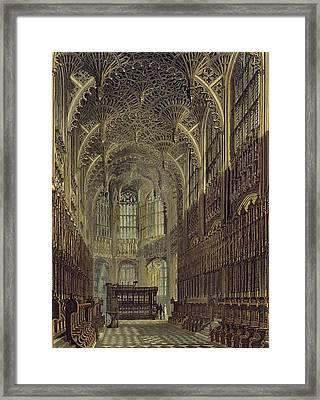 Henry The Seventh Chapel, Plate 8 Framed Print by Frederick Mackenzie