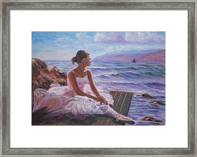 Her Dream Framed Print by Elena Sokolova