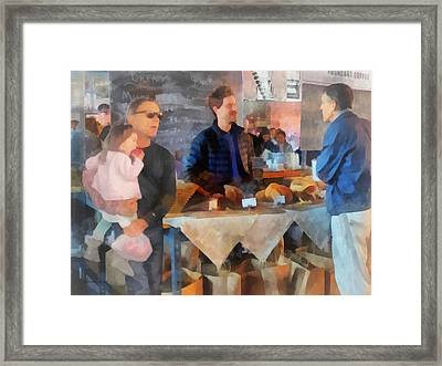 Her First Farmer's Market Framed Print by Susan Savad
