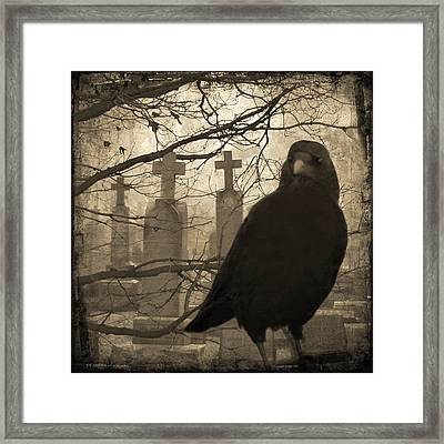 Her Graveyard Framed Print by Gothicrow Images