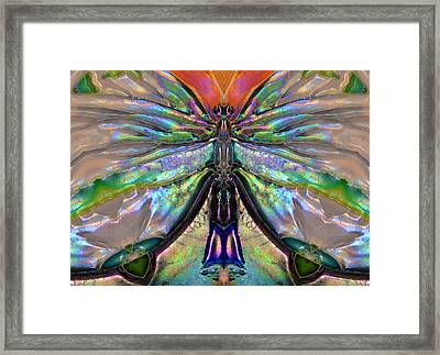 Her Heart Has Wings - Spiritual Art By Sharon Cummings Framed Print by Sharon Cummings
