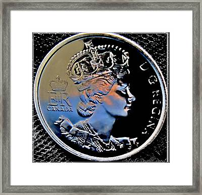 Her Majesty Elisabeth The Second  Coin Framed Print by Danielle  Parent