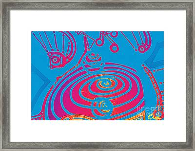 Her Navel Electric Vibrates Pulsates  Framed Print by Feile Case
