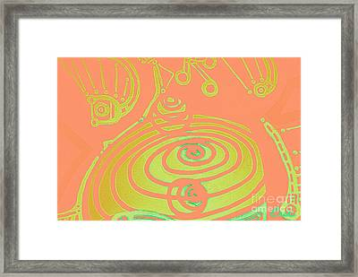Her Navel Peach Vibrates Pulsates  Framed Print by Feile Case