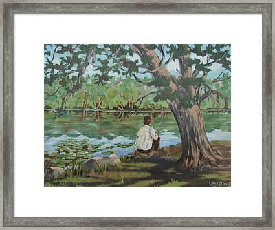 Her Reflections Framed Print by Tony Caviston