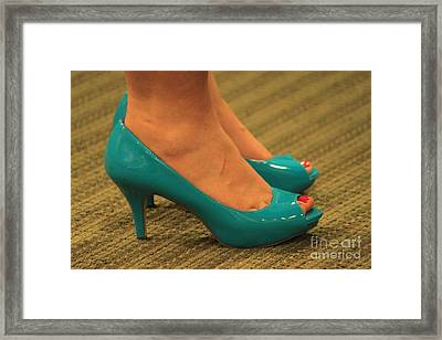Her Something Blue Framed Print by Jennifer E Doll