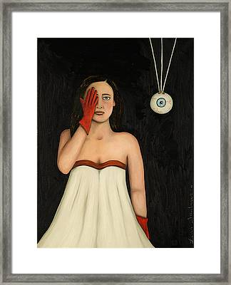 Her Wandering Eye 2 Framed Print by Leah Saulnier The Painting Maniac