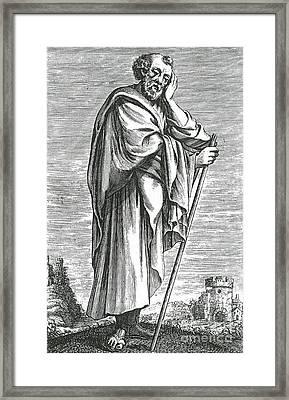 Heraclitus Of Ephesus, Greek Philosopher Framed Print by Science Source