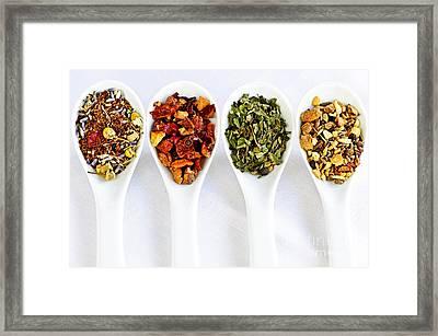 Herbal Teas Framed Print by Elena Elisseeva