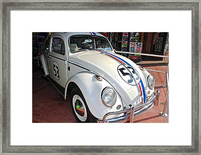 Herbie The Love Bug Framed Print by Frozen in Time Fine Art Photography