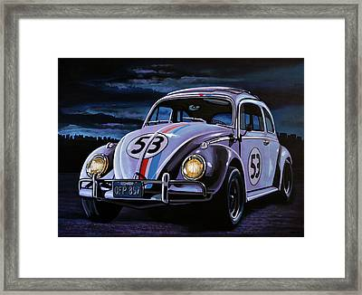 Herbie The Love Bug Painting Framed Print by Paul Meijering