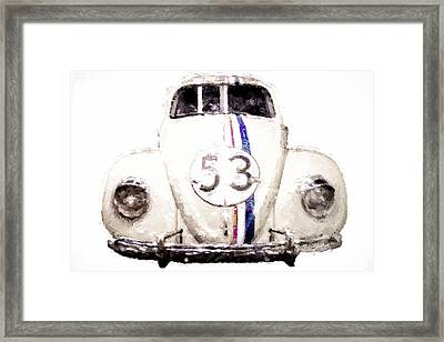 Herbie The Love Bug Framed Print by Vivian Frerichs