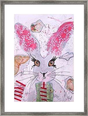 Herby Hare Framed Print by Karen  Connolly