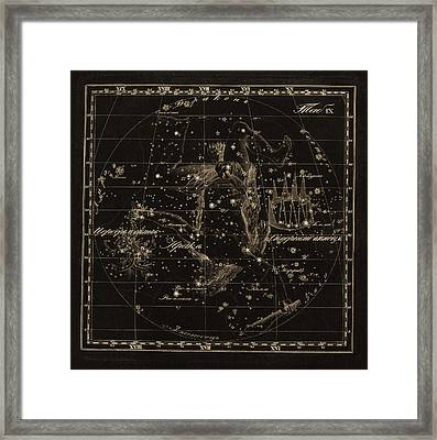 Hercules Constellations, 1829 Framed Print by Science Photo Library