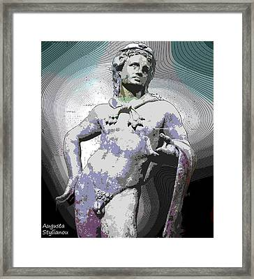 Hercules Demigod Framed Print by Augusta Stylianou