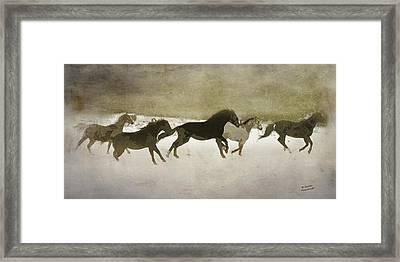 Herd Spirit In Sepia Framed Print by Renee Forth-Fukumoto