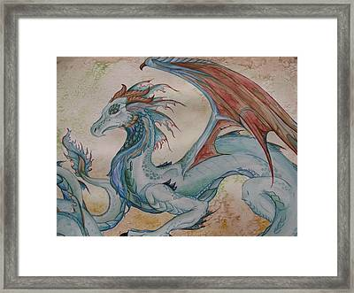 Here Be A Dragon Framed Print by Nicole Caldwell