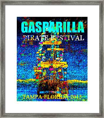 Here Comes Gasparilla Framed Print by David Lee Thompson