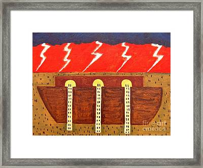Here Comes The Flood Framed Print by Patrick J Murphy