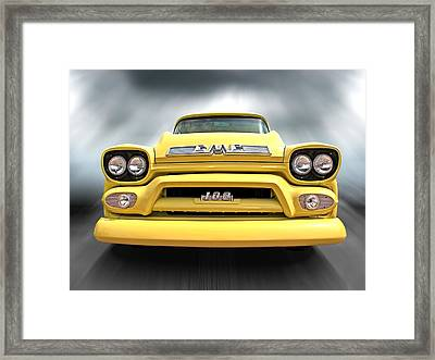 Here Comes The Sun - Gmc 100 Pickup 1958 Framed Print by Gill Billington
