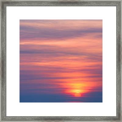 Here Comes The Sun Square Framed Print by Bill Wakeley