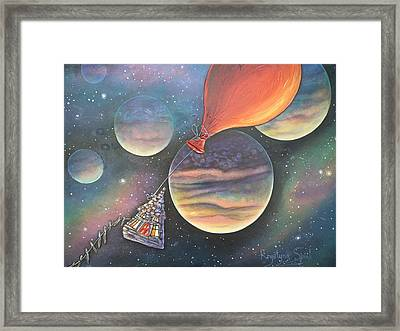 Here We Go Again Framed Print by Krystyna Spink