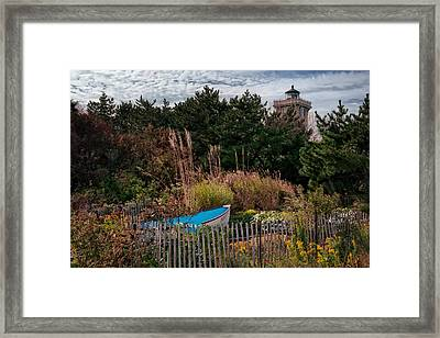 Hereford Lighthouse Framed Print by Joan Carroll
