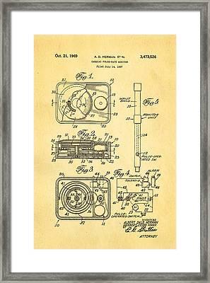 Herman And Marx Cardiac Monitor Patent Art 1969 Framed Print by Ian Monk