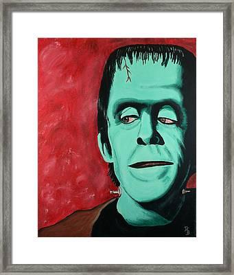 Herman Munster - The Munsters Framed Print by Bob Baker