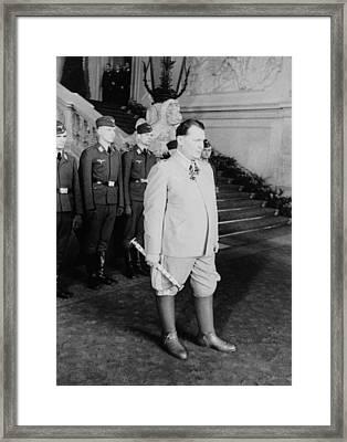 Hermann Goering At Castle Belvedere Framed Print by Everett