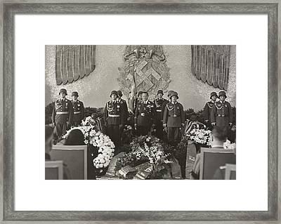 Hermann Goering At The Funeral Framed Print by Everett