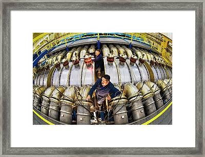 Hermes IIi Gamma-ray Generator Framed Print by Sandia National Laboratories