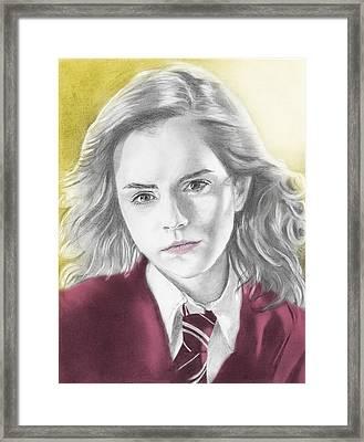 Hermione Granger - Individual Yellow Framed Print by Alexander Gilbert