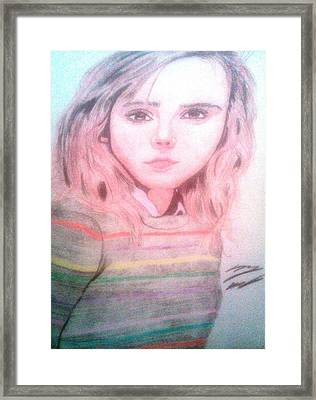 Hermione Granger Framed Print by Corey Hopper
