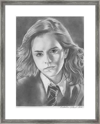 Hermione Granger - Pencil Framed Print by Alexander Gilbert