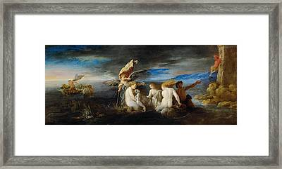 Hero Mourning The Dead Leander Framed Print by Domenico Fetti