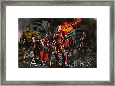 Heroes 3 Framed Print by Christian Colman