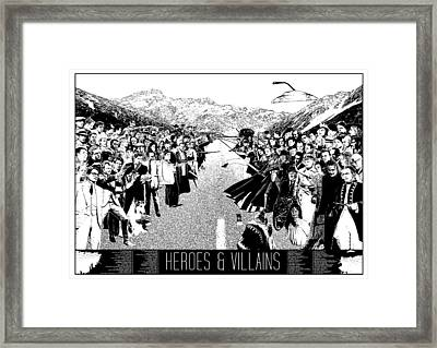 Heroes And Villains Framed Print by Donal Murphy