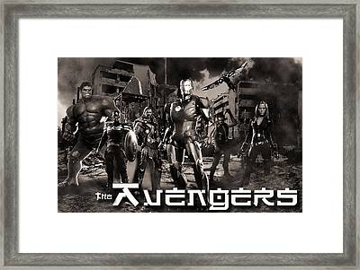 Heroes Bw Framed Print by Christian Colman