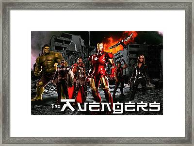 Heroes Framed Print by Christian Colman