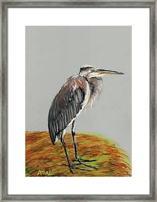 Heron Framed Print by Anastasiya Malakhova