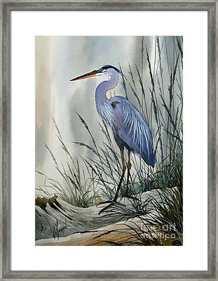 Herons Sheltered Retreat Framed Print by James Williamson